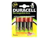 Duracell Rechargeable AA Batteries x 4