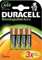 Duracell Rechargeable AAA Batteries x 4