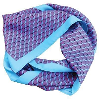 PRINTED POLYESTER SCARF.