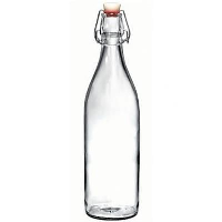 1 Litre Re-Usable Round Water Bottle With Flip Top Lid