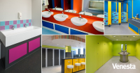 Made To Oder Washrooms For Use In The Education Sector
