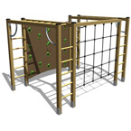 3D Climbing Equipment For Play Areas
