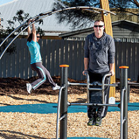 Outdoor Sports And Fitness Equipment For Sensory Gardens
