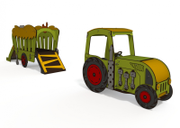 Tractor and Hay Cart