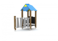 Timber Playhouse with Chalkboard