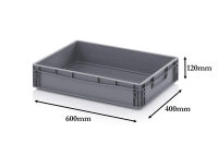 24 Litre Heavy Duty Euro Plastic Stacking Container