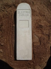 Concrete Electric Cables Indicator Posts