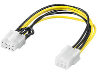 MicroConnect PCI Express 6 pin - 8 pin 0,2m Adaptorcable for PCI Express PI1921 - eet01