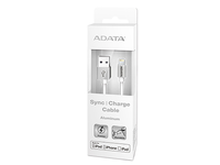 ADATA Lightning & Sync Cable white For iPod, iPhone, iPad AMFIPL-100CM-CWH - eet01