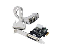 ST Labs PCIE POS 4S Serial Card W/cable & power output CP-130 - eet01