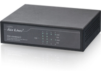 AirLive 8*10/100, 4-p POE 802.3at/af Up to 30 watt per port POE-FSH804ATI - eet01
