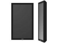 """SMS Casing Wall 22"""" - Black (RAL 9005) w/Wall mount & A7832001-1A - eet01"""