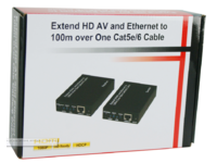 MicroConnect HDMI Extender Cat 5/6/7 100m Supports HDCP, 1080p@60Hz HDMEX100 - eet01