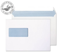 34708 Blake Purely Everyday Ultra White Window Peel & Seal Wallet 162X229mm 120Gm2 Pack 500 Code 34708 3P- 34708