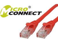 MicroConnect U/UTP CAT6 15M Red Snagless Unshielded Network Cable, UTP615RBOOTED - eet01