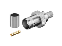MicroConnect BNC crimp plug for RG59 Cable with gold pin BNC59F - eet01