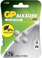 GP Batteries GP ALKALINE BUTTON CELL LR44 Blister with 4 batteries. 1.5V 103183-GP - eet01