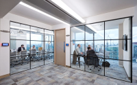 Modern Glass Partitioning Systems For Use In A Office Environment