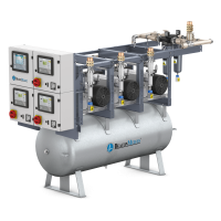 Lubricated Rotary Vane Medical Vacuum Systems