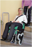 Adjustable Stair climber Wheelchair For Emergency Evacuation