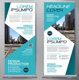 Micron Material Double Sided Pop Up Banners
