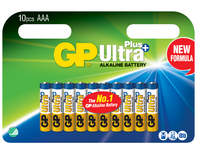 GP Batteries ULTRA PLUS ALKALINE AAA/LR03 Blister with 10 batteries 1,5V AAA 10-P 24AUP - eet01