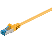 MicroConnect S/FTP CAT6A 0,5M Yellow LSZH PIMF( Pairs in metal foil) SFTP6A005Y - eet01