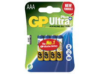 GP Batteries ULTRA PLUS ALKALINE AAA/LR03 Blister with 4 batteries. 1,5V AAA 4-P 24AUP - eet01