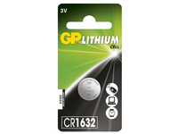 GP Batteries LITHIUM BUTTON CELL CR1632 Blister with 1 battery. 3V CR1632 1-P - eet01