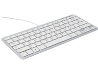 R-Go Tools Compact Keyboard, (BE), white AZERTY, wired. Windows, Linux RGOECBEW - eet01