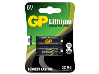 GP Batteries LITHIUM BATTERY 2CR5 Blister with 1 battery. 6V 2CR5 1-P - eet01