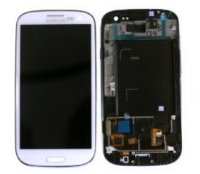 MicroSpareparts Mobile Glass screen White Samsung Galaxy S3 i9300 MSPP3812W - eet01