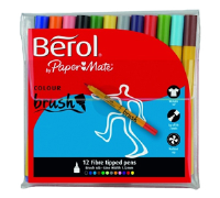 S0375950 Berol Colourbrush Pen Assorted Pack of 12 3P- S0375950