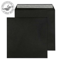614 Blake Creative Colour Jet Black Peel & Seal Square Wallet 160X160mm 120Gm2 Pack 500 Code 614 3P- 614