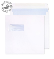 0170W Blake Purely Everyday White Window Gummed Square Wallet 170X170mm 100Gm2 Pack 500 Code 0170W 3P- 0170W