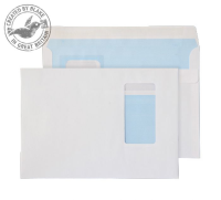 6805PW Blake Purely Everyday White Window Self Seal Wallet 162X229mm 100Gm2 Pack 500 Code 6805Pw 3P- 6805PW