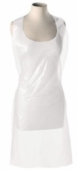 White Disposable Flat Packed Aprons