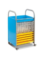 Callero Art Trolley with Trays and Racks