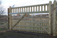 Large High Quality Wooden Gates