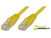 MicroConnect U/UTP CAT5e 1M Yellow PVC Unshielded Network Cable, UTP501Y - eet01