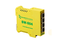 Brainboxes Ethernet Switch 4 ports Industrial Unmanaged SW-504 - eet01