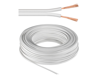 MicroConnect Speaker cable, 50m, white Cable diameter 2 x 2,5 mm AUDSPEAKER1-50 - eet01