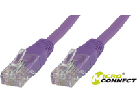 MicroConnect U/UTP CAT5e 15M Purple PVC Unshielded Network Cable, UTP515P - eet01