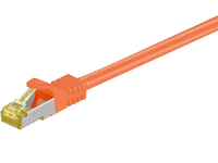 MicroConnect RJ45 patch cord S/FTP (PiMF), W. CAT 7 raw cable 0.5m Orange SFTP7005O - eet01