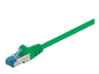 MicroConnect S/FTP CAT6A 0.25M Green LSZH PIMF( Pairs in metal foil) SFTP6A0025G - eet01