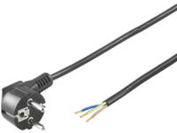 MicroConnect Power Cord 1,5m Schuko/Open Angled Schuko to opend end PE14015SO - eet01