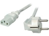 MicroConnect Power Cord 1.8m Grey IEC320 Angled Connector Schuko PE010418G - eet01