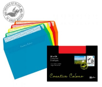 15123 Blake Creative Colour Assorted Peel & Seal Wallet 114X162mm 120Gm2 Pack 25 Code 15123 3P- 15123