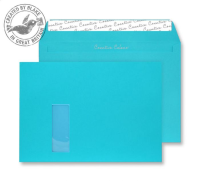 409W Blake Creative Colour Cocktail Blue Window Peel & Seal Wallet 229X324mm 120Gm2 Pack 250 Code 409W 3P- 409W