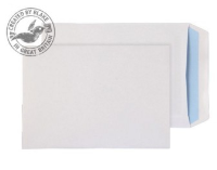 14893 Blake Purely Everyday White Self Seal Pocket 229X162mm 100Gm2 Pack 500 Code 14893 3P- 14893